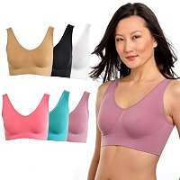 Comfortisse Bra Perfect Fit Set of 6 Seamless Bras