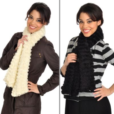 000-053 - Magic Scarf Set of Two Tubular Knit Scarves