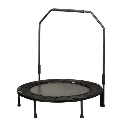 "000-347 - Sunny Health and Fitness 40"" Foldable Trampoline With Bar"