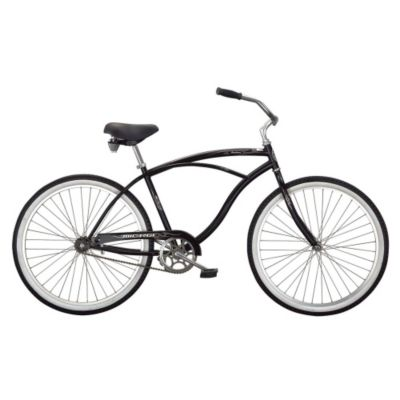 000-581 - Micargi® Matte Black Pantera Beach Men's Cruiser Bike