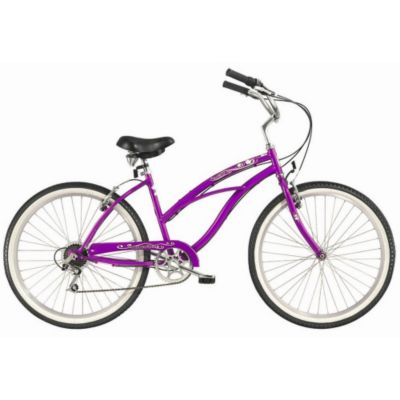 000-583 - Micargi® Purple Pantera 7 Speed Women's Beach Cruiser Bike