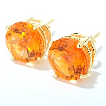 100-236 - Gem Treasures 14K Gold 8mm Gemstone ''Kellie Anne'' Stud Earrings