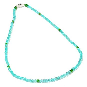 101-007 - Gem Treasures Sterling Silver 18'' 70ctw Exotic GemstoneNecklace w/Magnetic Clasp