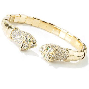 101-249 - Sonia Bitton For Brilliante 4.20 DEW Panther Flex Bracelet