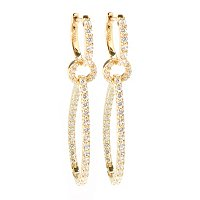 SB SS/CHOICE EARRINGS TEARDROP SHAPE INSIDE OUTSIDE DROP