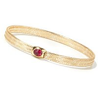 IDS- 14K FLEX STRETCH BANGLE W/ CHOICE OF METAL COLOR AND GEM