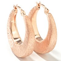 SS/P EAR SWIRL-BRUSHED GRADUATED HOOPS ELECTROFORM
