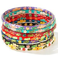 CLOISONNIE BANGLES SET OF 7