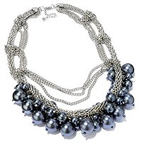 CIRO-SIMULATED PEARL AND CHAIN NECKLACE