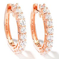 SB SS/CHOICE SIMULATED DIAMOND HOOP EARRINGS