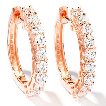 113-160 - Sonia Bitton for Brilliante® 2.80 DEW Hoop Earrings