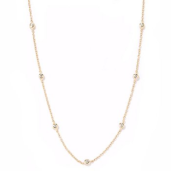 113-319 - Sonia Bitton for Brilliante® 36'' Bezel Set Station Necklace