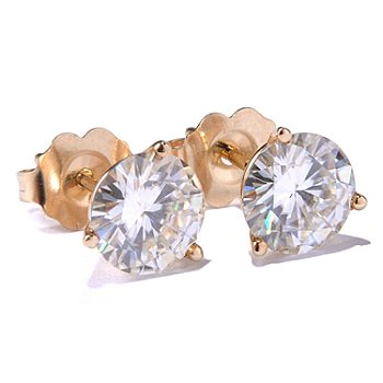 113-450 - Estrella Moissanite 14K Gold 1.76 DEW Martini Stud Earrings