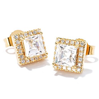114-156 - TYCOON for Brilliante® Square Tycoon Cut Halo Earrings