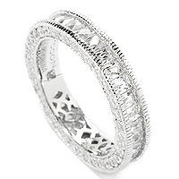 TYCOON SS/PLAT ROUND AND PRINCESS TYCOON CUT ETERNITY BAND