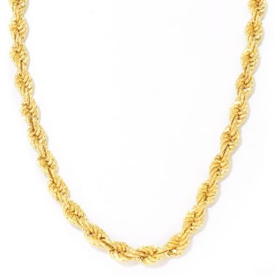 "114-208 - Toscana Italiana Gold Embraced™ 22"" Twisted Rope Chain Necklace"