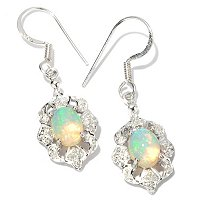 GI SS FRENCH HOOK EARRING W/ETHIOPIAN OPAL
