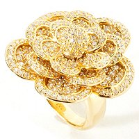 SB SS CHOICE MULTI-LEVEL FLOWER RING