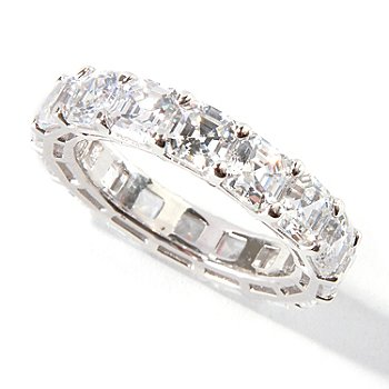 114-869 - Brilliante® 6.60 DEW Polished Asscher Cut Simulated Diamond Eternity Band Ring