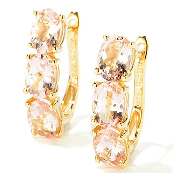 115-137 - NYC II 4.31ctw Morganite Earrings