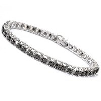 GT SS BLACK DIAMOND BRACELET 3.00CTW