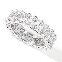 TYCOON SS/PLAT RECTANGULAR CUT ETERNITY BAND RING