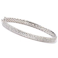 SB SS/PLAT PAVE BANGLE
