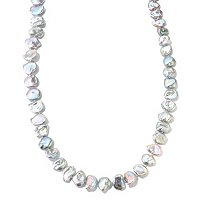 "52"" 11-12MM GREY/BLUE KESHI FWP ENDLESS NECKLACE"