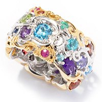 SS/PALL/18KGP RING MULTI-GEMSTONE ETERNITY BAND