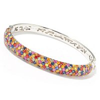 EFFY STERLING SILVER CONFETTI FANCY COLORS OF SAPPHIRE BANGLE