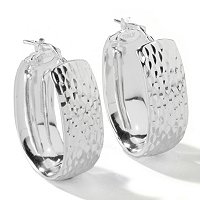 SEMPRESILVER[TM] - STERLING SILVER HOOP EARRING