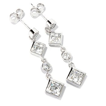 116-513 - TYCOON for Brilliante® Platinum Embraced™ 2.68 DEW Dangle Earrings