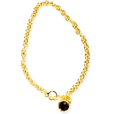 "116-532 - Milano Luxe Gold Embraced™ 18"" Gemstone Charm Toggle Necklace"