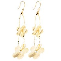 "IDS - 14K YG ""SCENT OF DAISIES"" DROP EARRINGS"