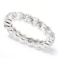 BLTA SS/PLAT 100 FACET ETERNITY BAND RING