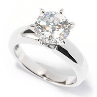 BLTA SS/PLAT 100 FACET SOLITAIRE RING