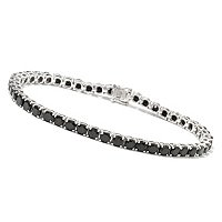 "GT SS 7MM 7.5"" BLACK SPINEL BRACELET"