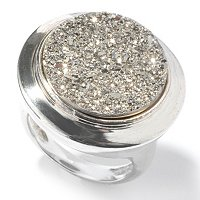 SEMPRESILVER[TM] SS ROUND DRUSY RING