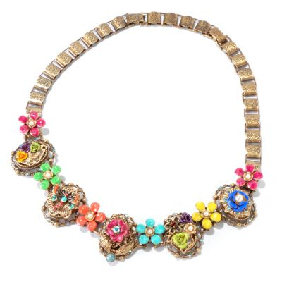 "117-263 - Sweet Romance™ 16"" RetroMex Mayan Garden Necklace"