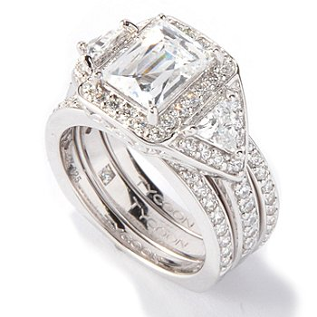 117-416 - TYCOON for Brilliante® 3.23 DEW Rectangular Tycoon Cut Ring Set
