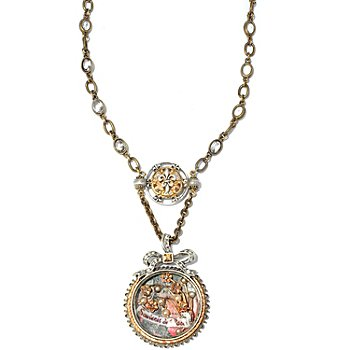 117-569 - Sweet Romance™ 21'' Victorian Inspired Paris Shadow Box Necklace