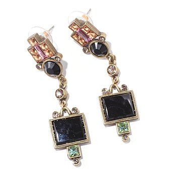 117-573 - Sweet Romance™ Vintage Style Geometric Deco Drop Earrings