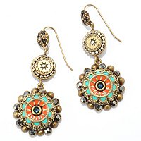 GOLDTONE VINTAGE-STYLE SOUTHWEST EARRINGS