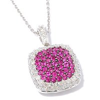 14K WG PAVE RUBY AND DIAMOND PEND