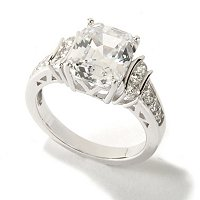 BLTA SS/PLAT ELONGATED ASSCHER CUT RING