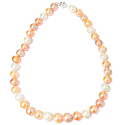 "117-854 - 12-14mm Freshwater Cultured Pearl Sterling Silver 20"" Necklace"