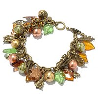 GOLDTONE SQUIRREL'S HARVEST BRACELET