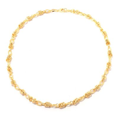 "118-300 - Portofino Gold Embraced™ 20"" Textured Status Link Necklace"