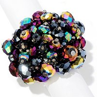 """CRYSTAL BEDAZZLE"" MULTI COLOR RING"