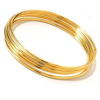 SS/18KGP BRAC SET OF 5 SLIP-ON BANGLES